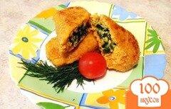 Фото рецепта: «Куриные котлетки со шпинатом и сыром»