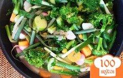 Фото рецепта: «Тушеные овощи с лимоном, зеленью и сливочным маслом»