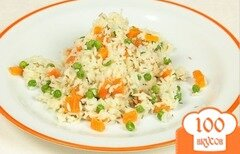 Фото рецепта: «Рис с морковью и горошком»