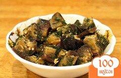 Фото рецепта: «Салат из баклажанов с чесноком»