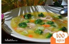 Фото рецепта: «Куриный суп с брокколи»