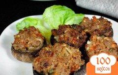 Фото рецепта: «Шампиньоны, фаршированные мясом»