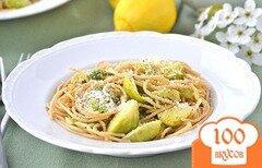 Фото рецепта: «Спагетти с брюссельской капустой и лимонным маслом»