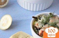 Фото рецепта: «Запеканка из риса, лосося и спаржевовой фасоли»