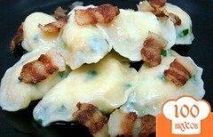 Фото рецепта: «Вареники с картофелем - тесто на сметане с луком»