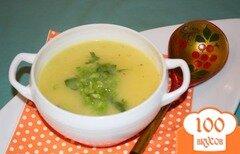 Фото рецепта: «Картофельный суп-пюре с курицей и зеленью»