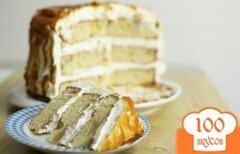 Фото рецепта: «Грушевый торт в карамели»