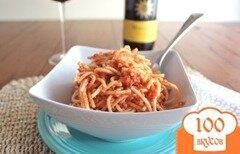 Фото рецепта: «Спагетти под соусом с водкой»