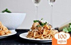 Фото рецепта: «Лингвини с курицей и коричневым маслом»