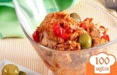 Фото рецепта: «Рисовый салат с консервированным тунцом»