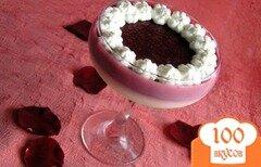 Фото рецепта: «Десерт Брусника на облачке»