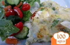 Фото рецепта: «Омлет Фриттата с сыром и спаржей»