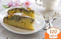 Фото рецепта: «Пирог с маком и персиками»