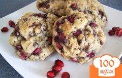 Фото рецепта: «Шоколадное печенье с гранатом»