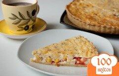 Фото рецепта: «Киш с кукурузой и помидорами»