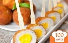 Фото рецепта: «Перепелиные яйца по-шотландски»