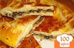 Фото рецепта: «Пирог с капустой и грибами»