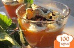 Фото рецепта: «Абрикосовый десерт с мороженым»
