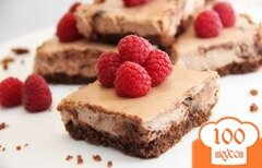 Фото рецепта: «Шоколадный чизкейк с малиной»
