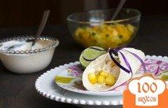 Фото рецепта: «Тако с тилапией и фруктовой сальсой»