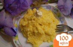 Фото рецепта: «Каша кукурузная с маслом»
