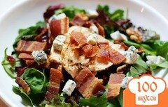 Фото рецепта: «Куриный салат с латуком»