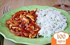 Фото рецепта: «Куриное рагу в томатном соусе»