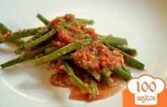 Фото рецепта: «Зеленая фасоль со свежим томатным чатни»