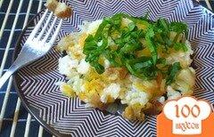 Фото рецепта: «Рис со шкварками и черемшой»