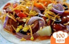 Фото рецепта: «Лепешки с колбасой чоризо»