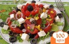 Фото рецепта: «Критский салат с фетой»