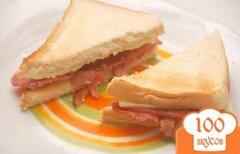 Фото рецепта: «Сэндвич с беконом»