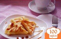 Фото рецепта: «Крахмальные блины с карамелью»