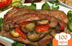 Фото рецепта: «Свинина с овощами, запеченная в фольге.»