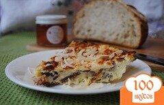 Фото рецепта: «Омлет с карамельным луком и грибами»