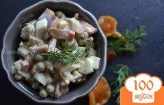 Фото рецепта: «Яичный салат с маринованными грибами»