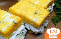 Фото рецепта: «Полента с сыром и зеленью.»