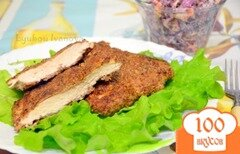 Фото рецепта: «Куриные отбивные в панировке из грецкого ореха»