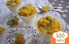 Фото рецепта: «Панна котта с маракуйей и апельсином»