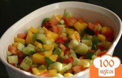 Фото рецепта: «Сальса с манго и ананасом»