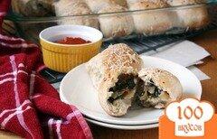 Фото рецепта: «Булочки с луком и шпинатом»