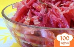 Фото рецепта: «Быстро маринованная капуста со свеклой, морковкой и сладким перцем.»