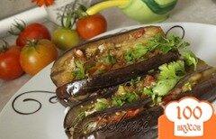 Фото рецепта: «Баклажаны фаршированные овощами»
