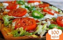 Фото рецепта: «Пицца с беконом и овощами»