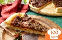 Фото рецепта: «Пицца с острыми колбасками»