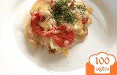 Фото рецепта: «Курица под помидорами и сыром»