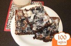 Фото рецепта: «Брауни с ванильной глазурью»