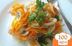 """Фото рецепта: «Жареная семга под маринадом на """"подушке"""" из картофеля»"""