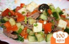 Фото рецепта: «Салат греческий с мясом»