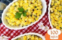 Фото рецепта: «Вареная кукуруза с козьим сыром»